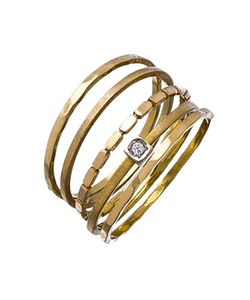 Kacey K Fine Jewelry - Five Gold Stackable Rings