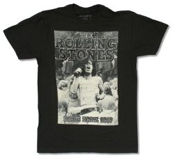 "Bravado  - The Rolling Stones ""Mick 1969"" Black T-Shirt"