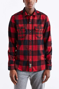 CPO X Pendleton  - Mixed Buffalo Plaid Button-Down Shirt