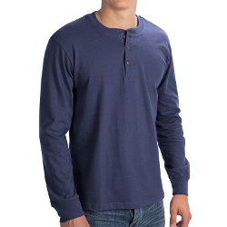 North Point - Henley Shirt Long Sleeve Sweatshirt