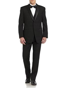 Ike Behar - Wool Satin Peaked-Lapel Tuxedo