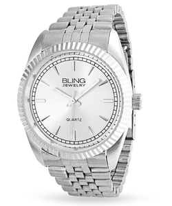 Bling Jewelry - Stainless Steel Quartz Mens Watch