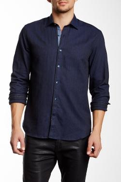 Stone Rose  - Flannel Herringbone Long Sleeve Shirt