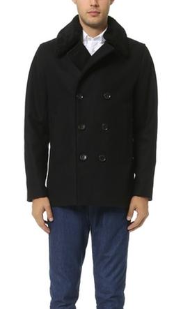Vince - Mouton Collar Pea Coat