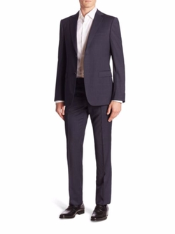 Z Zegna  - Plaid Wool Suit