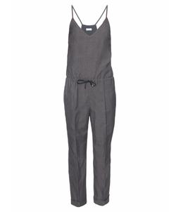 Brunello Cucinelli - V-Neck Wool And Linen-Blend Jumpsuit