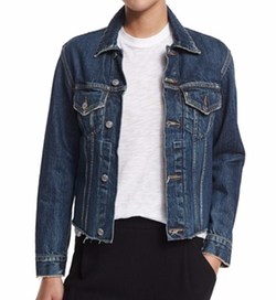 Vince - Raw-Edge Denim Jacket