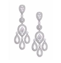 Adriana Orsini - Pavé Pear Chandelier Earrings