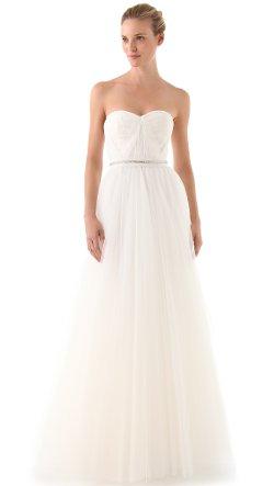 Reem Acra - Virtue Strapless Gown