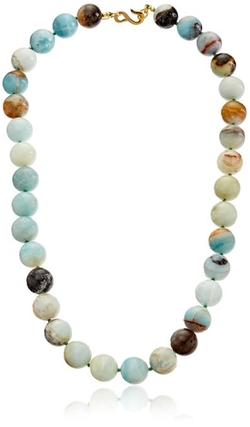 Kenneth Jay Lane - Round Amazonite Bead Necklace
