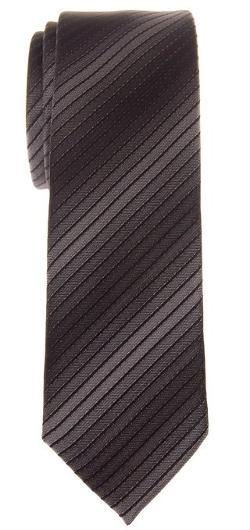 Retreez - Exquisite Stripe Ombre Woven Microfiber Skinny Tie