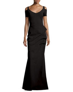 La Petite Robe di Chiara Boni - Julia Cold-Shoulder Ruched Gown