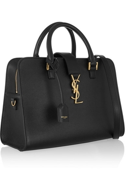 Saint Laurent  - Monogramme Cabas Small Leather Tote Bag