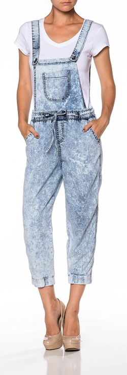 Apparel Sense - Jumper Romper Strechy Denim Overall Pants
