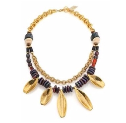 Lizzie Fortunato - Morrocan Sun Beaded Two-Strand Necklace