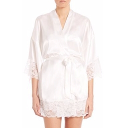 In Bloom - Satin & Lace Wrapper Robe
