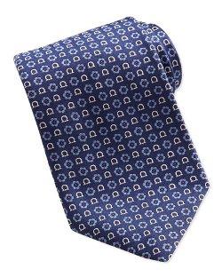 Salvatore Ferragamo - Gancini Flower-Print Tie