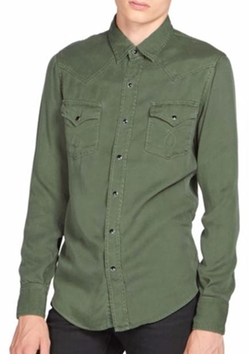 Saint Laurent  - Cotton Twill Western Shirt