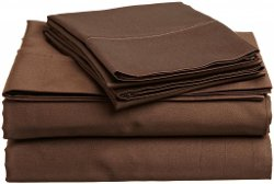 LinenWizard - Chocolate Egyptian Giza Cotton Bed Sheet