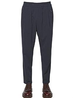 Giorgio Armani - 17cm Wool Cotton Blend Twill Trousers
