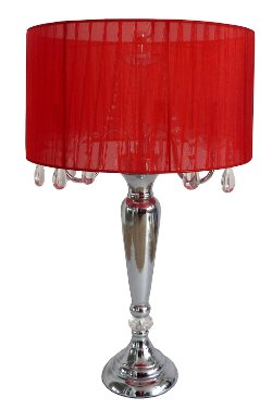 Elegant Designs - Red Shade Table Lamp