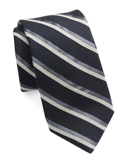 Michael Kors - Striped Silk Blend Tie