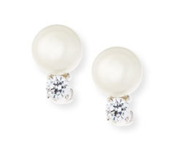 Fantasia - Pearly Bead & Crystal Stud Earrings