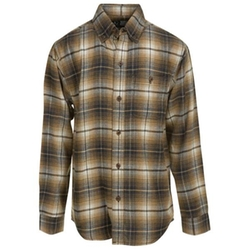 Canyon Guide Outfitters - Brown & Black Plaid Flannel Shirt