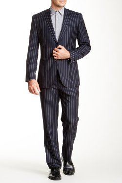 English Laundry  - Pinstripe Two Button Notch Lapel Wool Suit