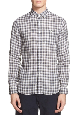 Todd Snyder  - Extra Trim Fit Check Linen Shirt