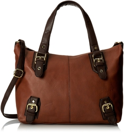 Del Mano - Swaggar Satchel with Strap Top Handle Bag