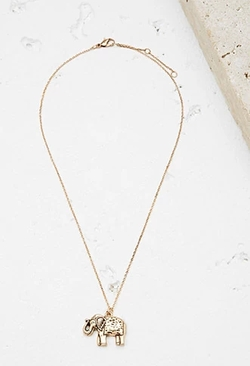Forever 21 - Elephant Pendant Necklace