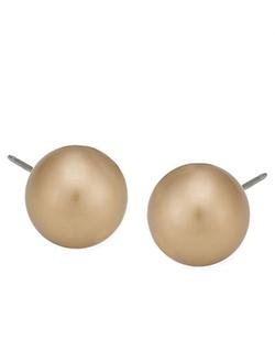 Carolee - Faux Pearl Stud Earrings