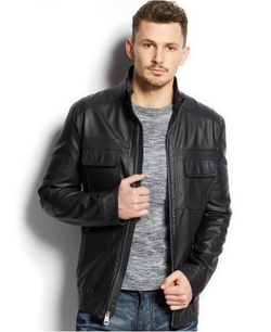 Buffalo David Bitton - Quilted Faux-Leather Jacket