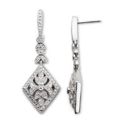 JCPenney - 1/10 CT. T.W. Diamond Sterling Silver Dangle Earrings