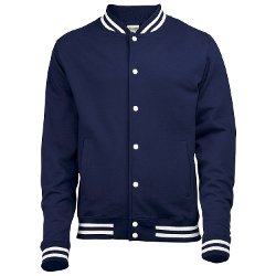 Awdis - Knitted Collar College Jacket