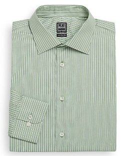 Ike Behar  - Regular-Fit Track-Stripe Dress Shirt
