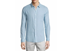 Theory  - Linen Long-Sleeve Sport Shirt