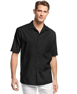 Tasso Elba - Solid Short-Sleeve Shirt