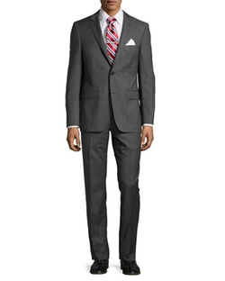 DKNY  - Slim-Fit Two-Button Check Two-Piece Suit