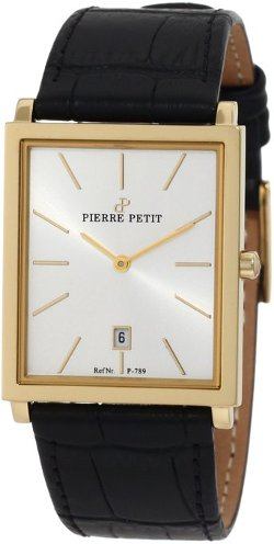 Pierre Petit - Square Case Black Genuine Leather Watch