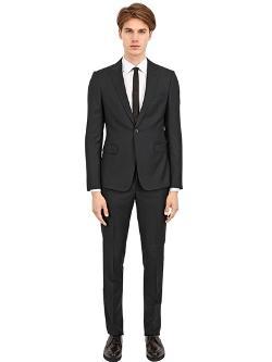 Emporio Armani  - Slim Fit Wool Sablè Suit
