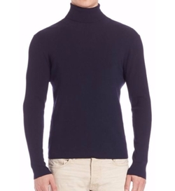 Polo Ralph Lauren  - Rib Knit Wool-Blend Turtleneck Sweater