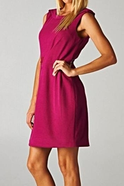 Esley Collection - Magenta Sleeveless Dress