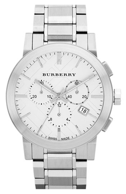 Burberry  - Check Stamped Chronograph Bracelet Watch