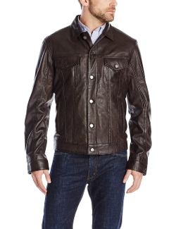 Emanuel by Emanuel Ungaro - Modern Rugged Lamb Leather Jacket