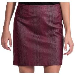 Amanda + Chelsea  - Faux-Leather Snake Skirt