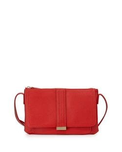 Neiman Marcus - Libby Faux-Saffiano Crossbody Bag