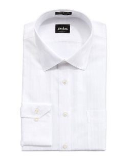 Neiman Marcus - Non-Iron Classic-Fit Tonal-Stripe Dress Shirt
