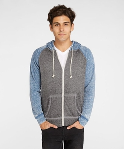 Threads 4 Thought  - Burnout Raglan Zip Hoodie